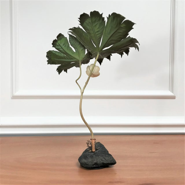 1970s Vintage Botanical Still Life Painted Metal & Stone Model by Robert Meier For Sale - Image 4 of 9