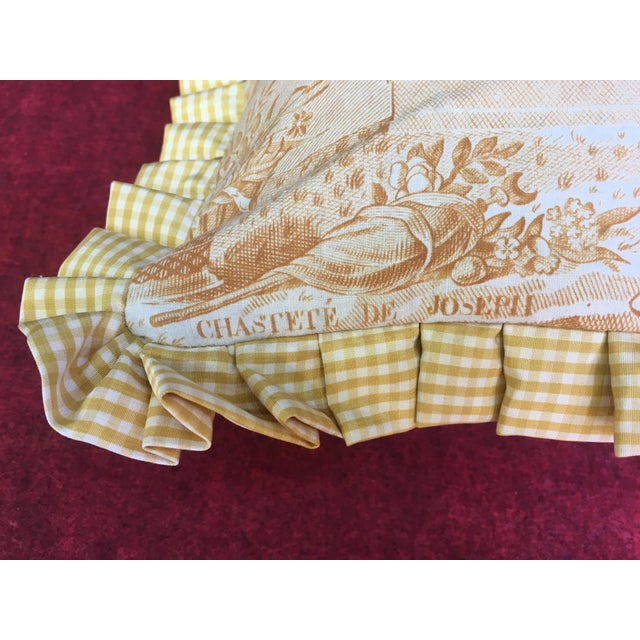 """2020s Antique Toile """"The Chastity of Joseph"""" Pillow For Sale - Image 5 of 6"""