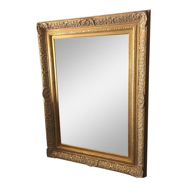 Vintage Gold Frame Mirror | Chairish