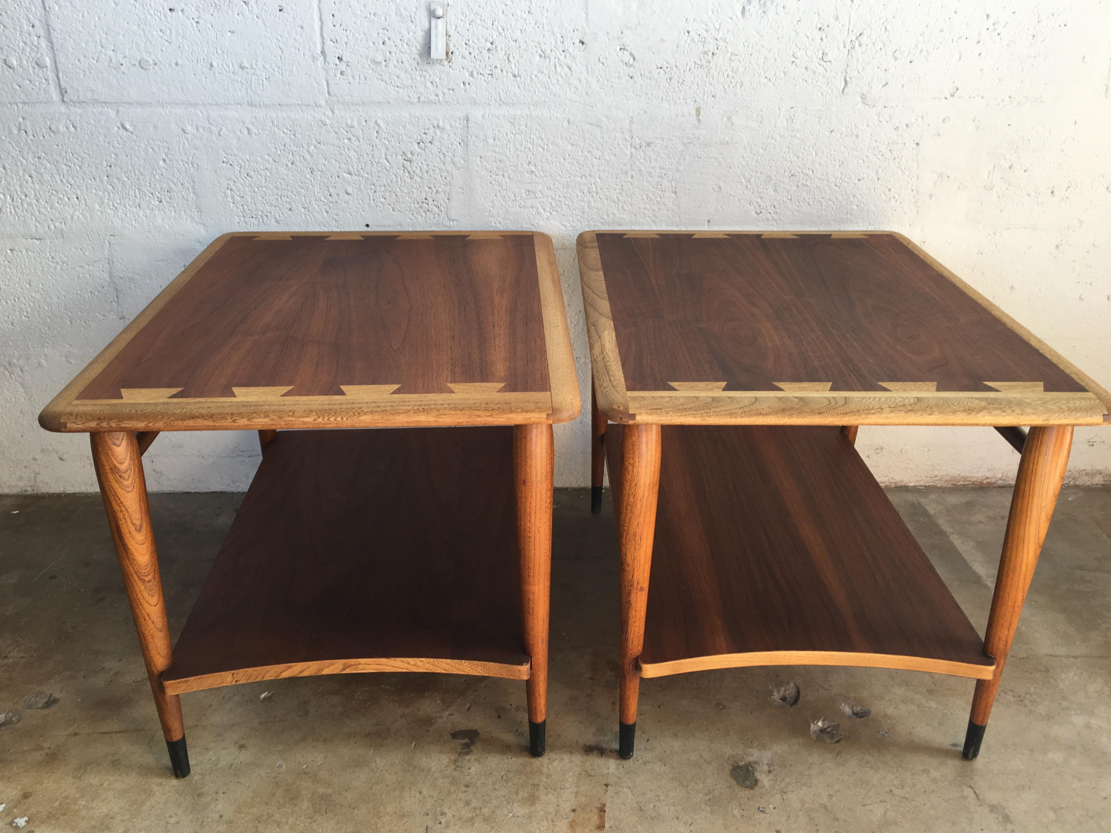 Vintage Mid Century Modern Side Tables By Lane (A Pair)   Image 2 Of