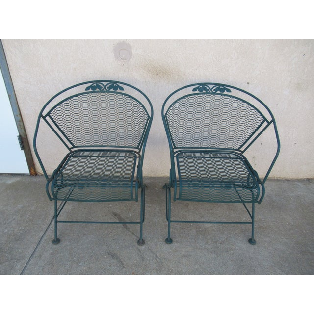 Vintage Spring Patio Dining Chairs - Set of 4 For Sale - Image 12 of 13