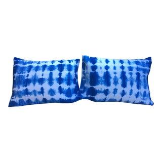 Indigo Shibori Dyed Standard Pillow Shams - A Pair