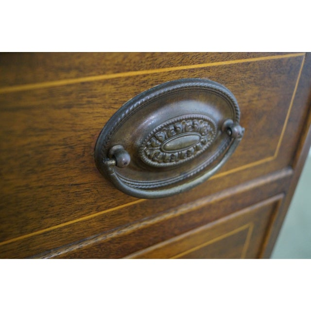 Potthast Solid Mahogany Inlaid Chippendale Chest - Image 8 of 10