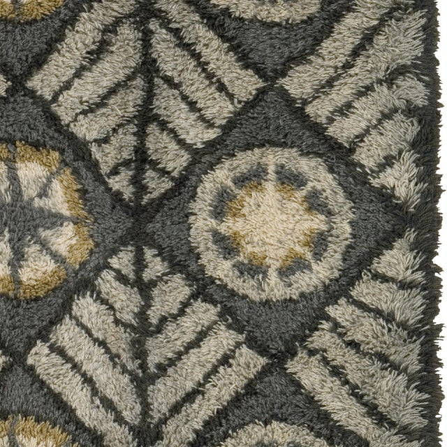 1960s Mid 20th Century Swedish Rya Rug For Sale - Image 5 of 6