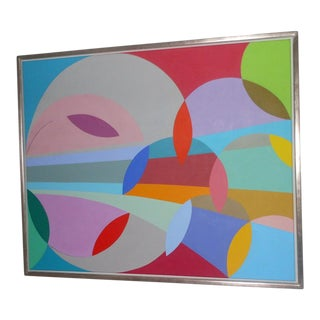 Danish Abstract Composition by Lillian De`Neergaard For Sale