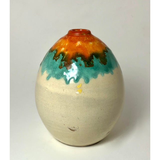 1930s Art Deco Pottery Vase For Sale - Image 4 of 5