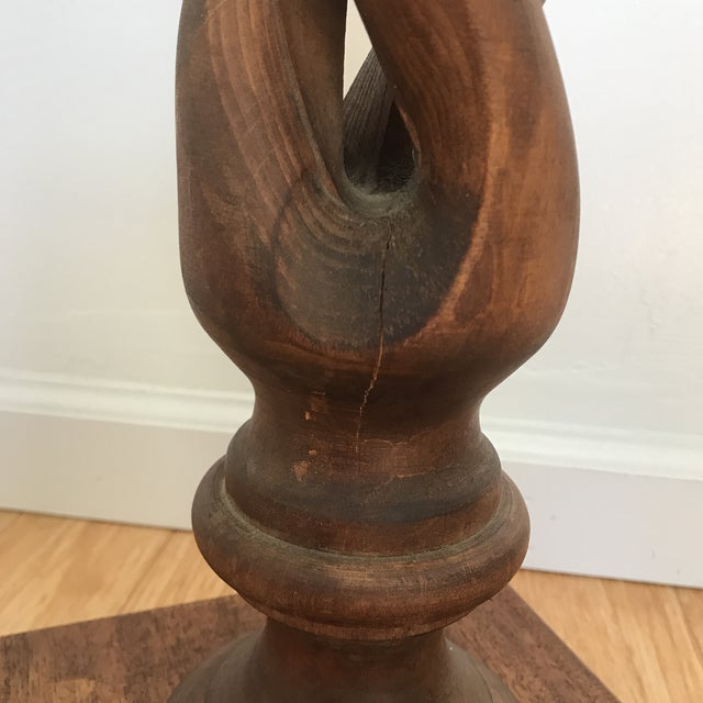 Brown Vintage Italian Walnut Open Barley Twist Plant Stand For Sale - Image 8 of 13