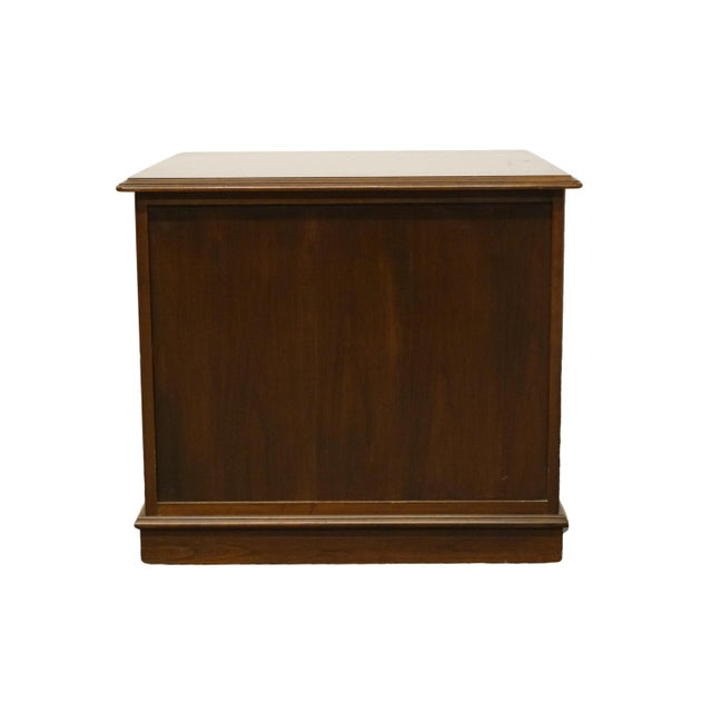 Ethan Allen Georgian Court Solid Cherry Storage Accent Table For Sale - Image 9 of 12