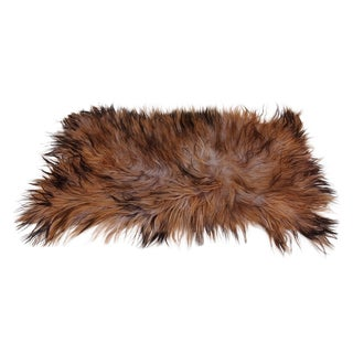 """Black Taupe and Brown Goat Skin Rug -- 2'1"""" x 4'"""