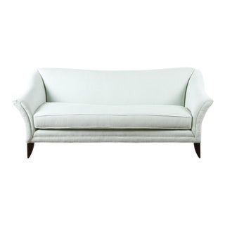 Michael Thomas Green and White Check Charlotte Sofa For Sale