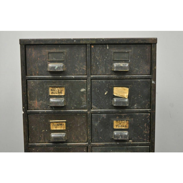 Antique Industrial Cabinet For Sale - Image 10 of 11