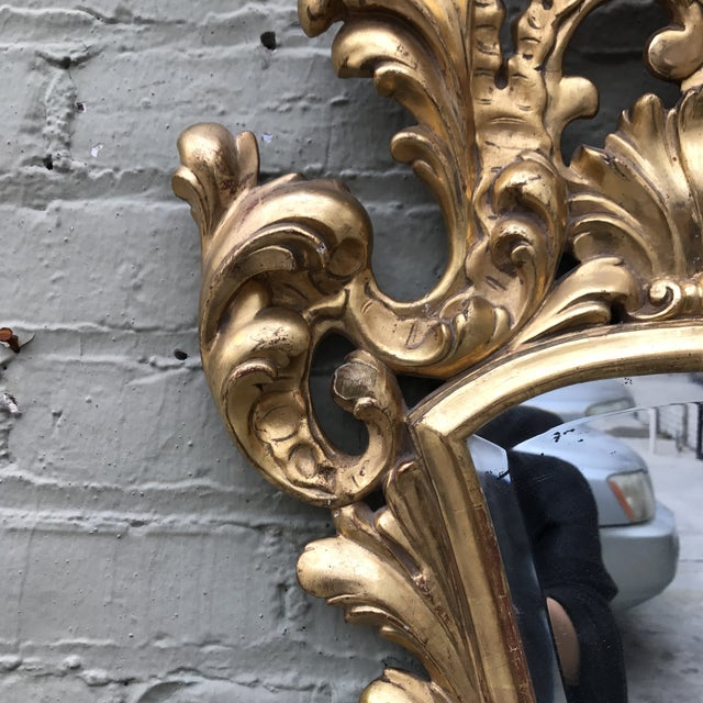 Italian Gilt Wood Mirror For Sale - Image 4 of 7