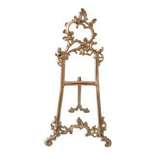 Large Art Nouveau Brass Table Easel For Sale