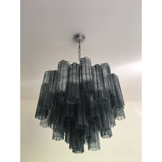 "Glass Contemporary Murano Glass ""Tronchi"" Chandelier For Sale - Image 7 of 9"