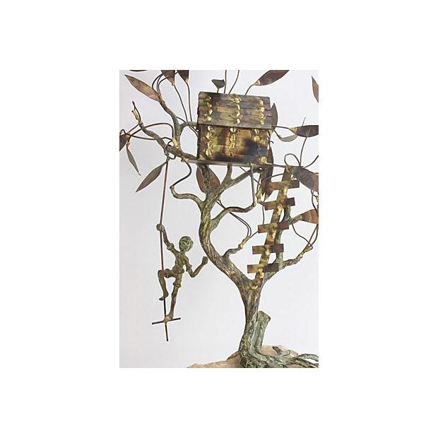 Copper Brutalist Treehouse Sculpture - Image 3 of 6