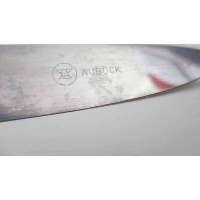 Carl Auböck Carl Aubock Austria Steel and Rattan Knife For Sale - Image 4 of 10