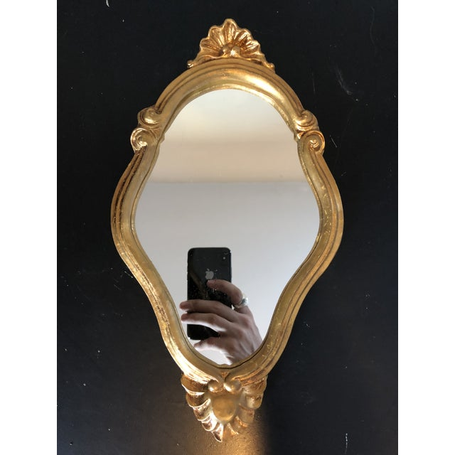 Mid 20th Century Vintage Florentine Italian Gilt Mirror For Sale - Image 5 of 5