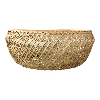 Large Woven Round Basket