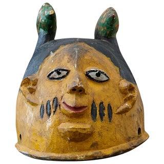 Polychrome Wood Gelede Headdress, Yoruba People, Nigeria, Circa 1940s For Sale