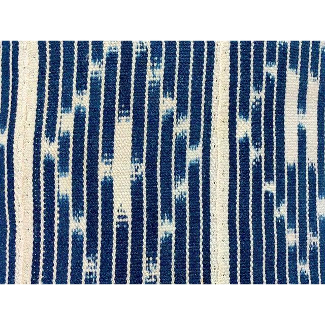 2010s Tribal Denim Ikat Lumbar Pillows - a Pair For Sale - Image 5 of 6