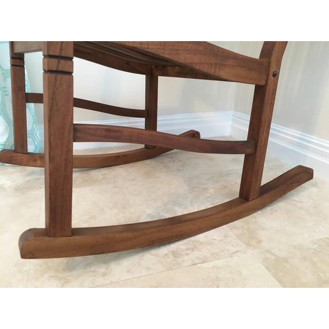 Teak 2000s Americana Cambridge Teak Rocking Chair For Sale - Image 7 of 13