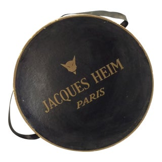 Jacques Heim Paris French Haute Couture Hat Box For Sale