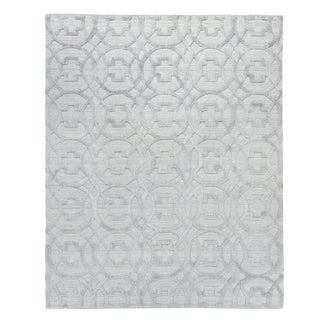 Wellington Silver Hand loom Wool Area Rug - 10'x14' For Sale