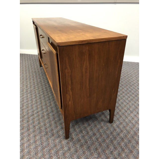 Vintage Mid Century Modern Walnut Credenza - Forward by Broyhill For Sale - Image 9 of 13