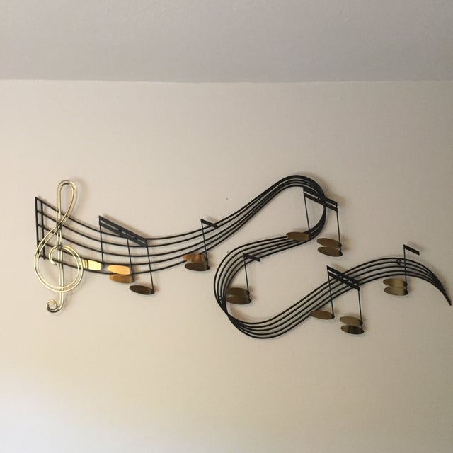 Modern C Jere Music Motif Wall Sculpture Signed For Sale - Image 3 of 7