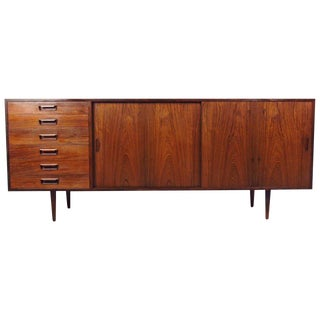 Exquisite Danish Rosewood Sideboard For Sale
