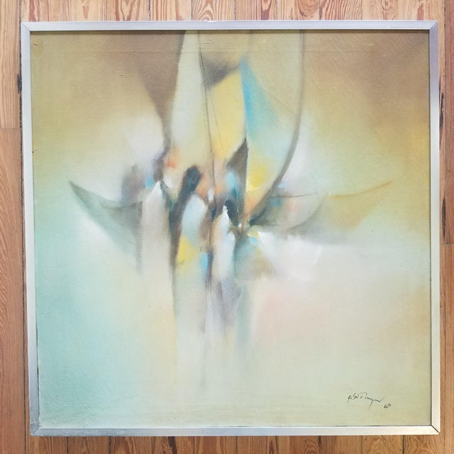 1960s 1969 Abstract Painting For Sale - Image 5 of 5