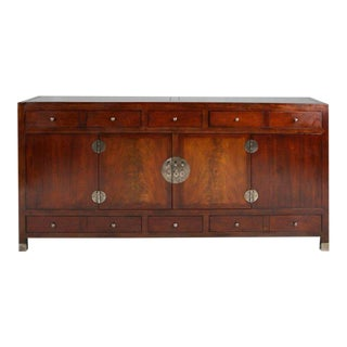 Signed Baker Milling Road Mahogany Ming Sideboard With Hidden Compartments For Sale
