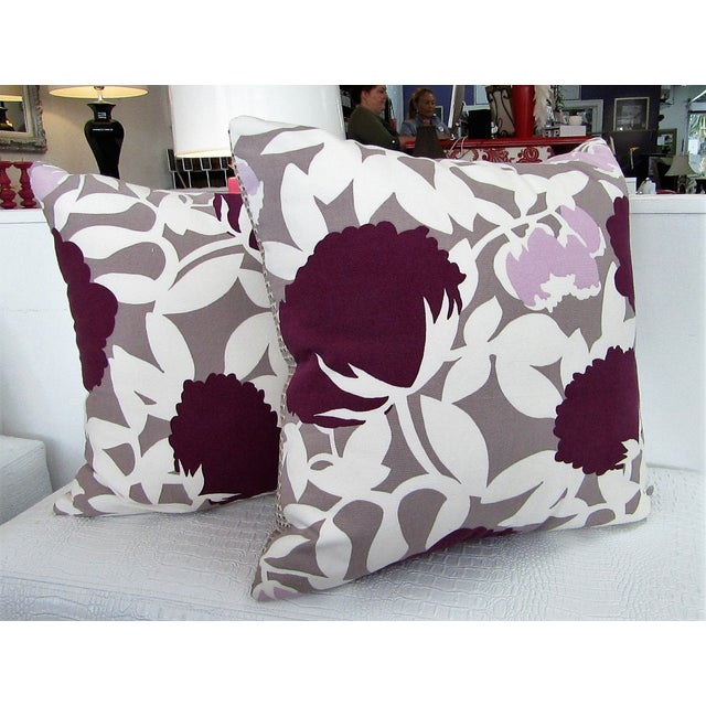 Reversible Floral Printed Accent Pillows - A Pair For Sale In West Palm - Image 6 of 6