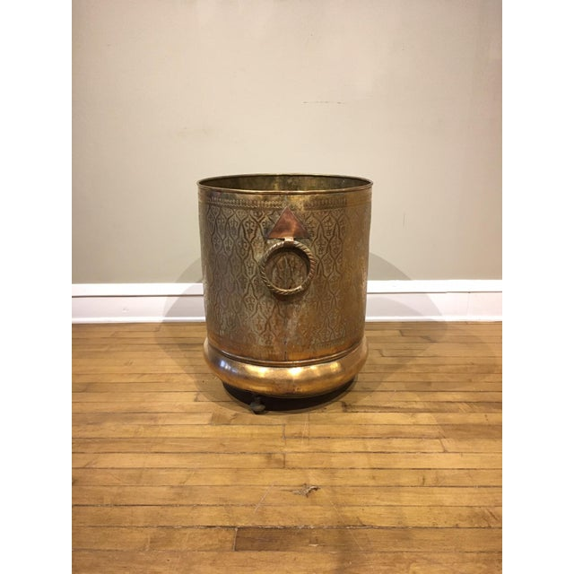 Late 20th Century Late 20th Century Moroccan Brass Planter For Sale - Image 5 of 12