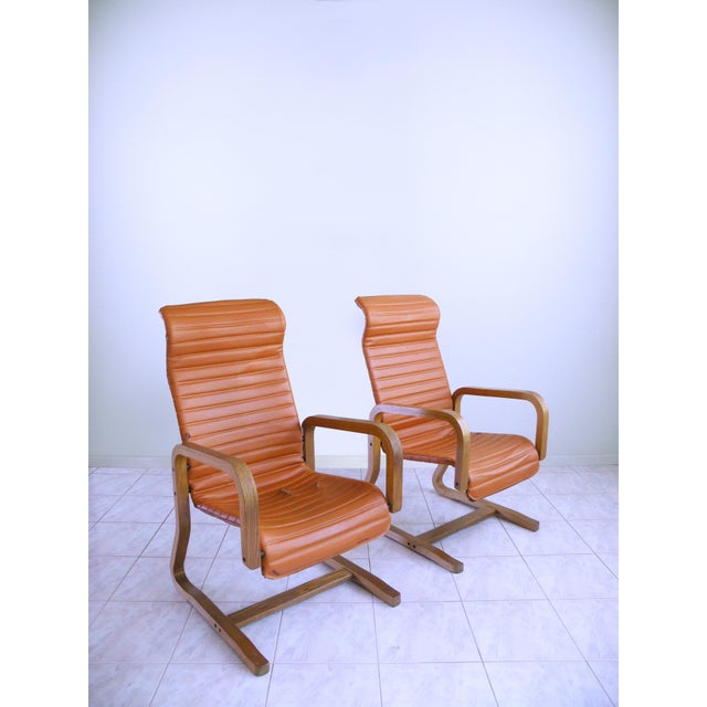 Mid-Century Modern Thonet Bentwood Cantilever Lounge Chairs - a Pair For Sale - Image 10 of 10