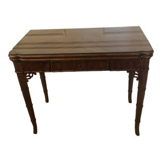 1960s Chippendale Faux Bamboo Game Table/Desk For Sale