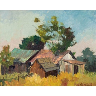 """Original """"Old Barns, Southern California"""" Oil Painting by Jon Blanchette Preview"""