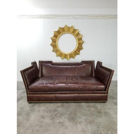 Contemporary Leather Sofa by Ferguson Copeland For Sale - Image 3 of 13