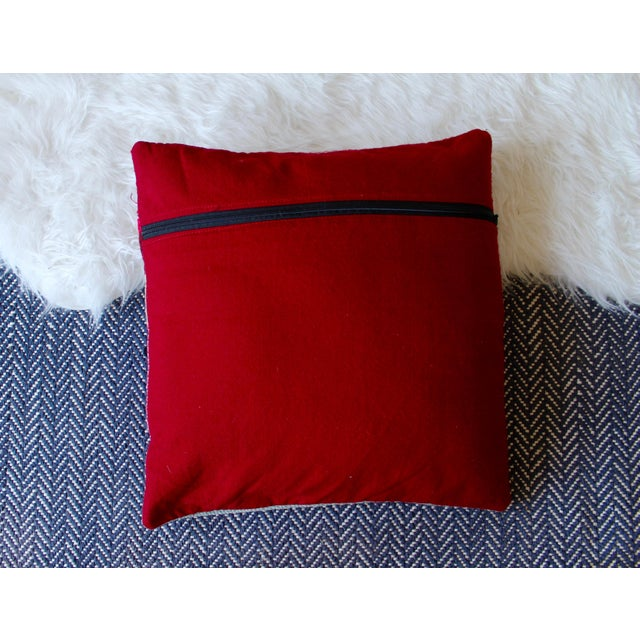 """17"""" x 17"""" beautiful handwoven frazada pillows from Cusco, Peru. Set of 2, down inserts included."""