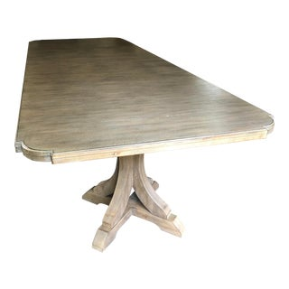 "Traditional Hooker Furniture Corsica Double Pedestal Wooden Dining Table With 20"" Leaves For Sale"