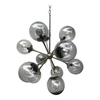 Mid Century Modern Sputnik Lightolier 12 Arm Chandelier For Sale