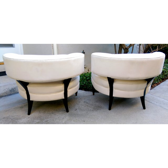 Modern Contemporary Slipper Lounge Chairs - Pair - Image 3 of 10