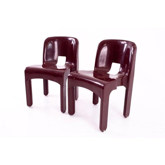 Mid-Century Modern Joe Colombo Kartell Mid Century Plastic Chairs - Pair For Sale - Image 3 of 10