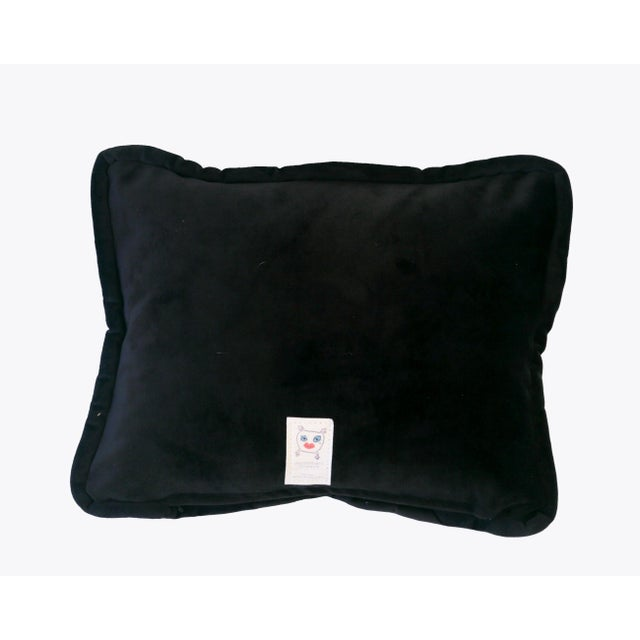 Cotton Custom Designed Butterfly Garden Pillow For Sale - Image 7 of 7