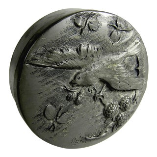 Early 20th Century Prévot French Pewter Vanity or Keepsake Box For Sale