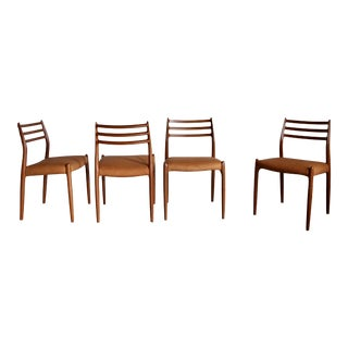1960s Vintage Niels Moller Model 78 Dining Chairs - Set of 4 For Sale