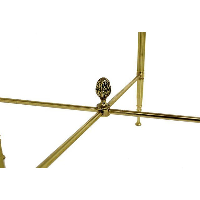 Set of three mid century modern solid brass stacking end tables.