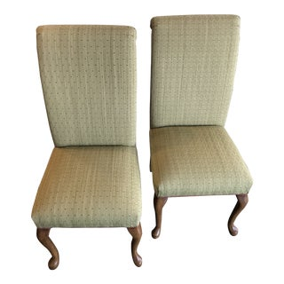 Modern Transitional Parsons Dining Chairs- A Pair For Sale