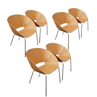 Wolfgang C.R. Mezger Lipse Chairs - Set of 6 For Sale