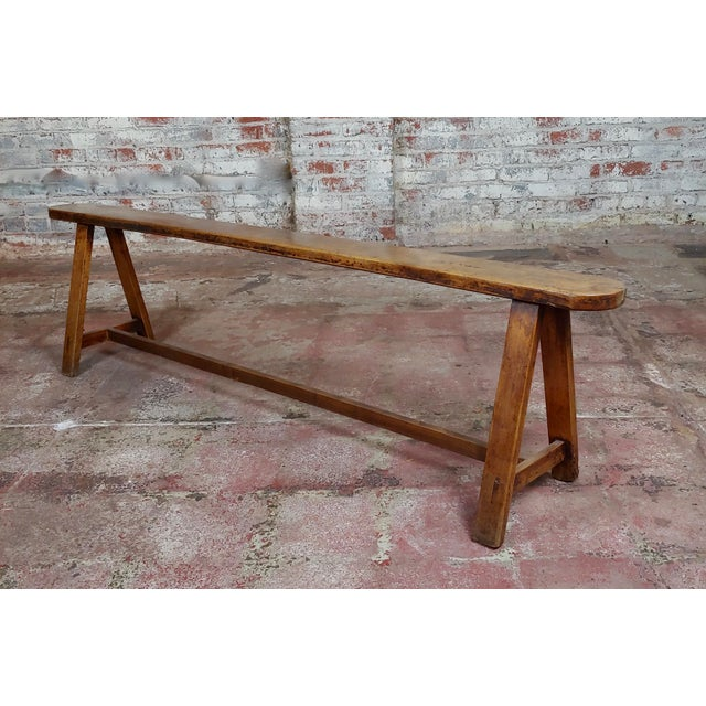 """19th century Antique Walnut Farm Bench size 69 x 6 x 18"""" A beautiful piece that will add to your décor!"""